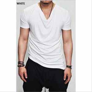 Erkekler Marka V yaka Polyester Tişört Kısa Kollu Tişörtler Erkek tişört 2020 Yeni Erkek İlkbahar Yaz Designer Tops
