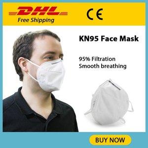 Kn95 Máscara respirable cómodo 4 Estructura de la capa de alto contenido de sólidos recogida de polvo KN95 máscara no tejido de gasa de embalaje único para adultos Relajado