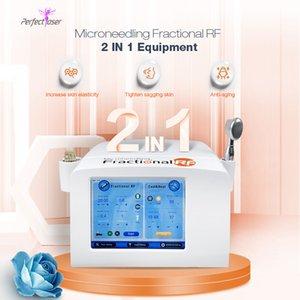 microneedle rf Falten entfernen Maschine 4 Spitzen Microneedle facial Heberadiofrequenzbehandlung Thermal RF-Maschine