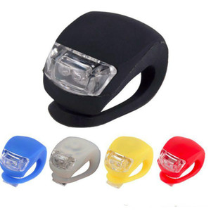 Bicycle Front Light Silicone LED Head Front Rear Wheel Bike Light Waterproof Cycling With Battery Bicycle Accessories Bike Lamp DLH053