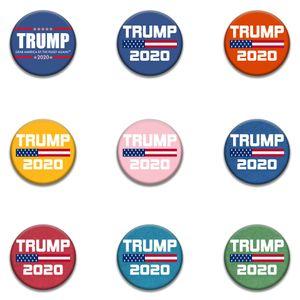 9 style de la mode Trump Badge commémorative PINS Broches 2020 Badge Trump Supplies Election américaine du drapeau américain Supply w-00281