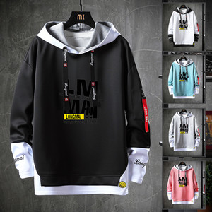 Amazon Hot Selling Men Autumn Winter Fashional Print Hoodies Leisure Stree Party Sport Swearshirts Plus Size Pullover Fleeve Knits M-4XL