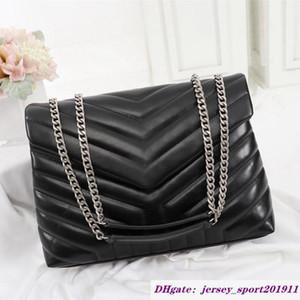 Лучшие роскоши дизайнерские сумки LOLOU 25 см натуральные кожи женские модные сумки цепь на плечо сумка высокое качество многократный цветной клапан