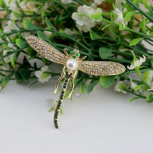 Metropolitan Museum MA Dragonfly esmalte broche Metropolitan Museum MA Dragonfly esmalte pérola diamante diamante broche de pérolas 5Pu8P