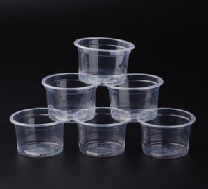DHL 5oz Disposable Jelly Cup Mini Plastic Round Portion Pudding Mug Transparent Jello Souffle Jam Shot Cups With Lids nt