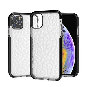 2020 New Diamond Pattern Clear TPU Cell Phone Cases For iphone 12 11 Pro max XS XR SE 6 7 8 Plus Shockproof Back Case
