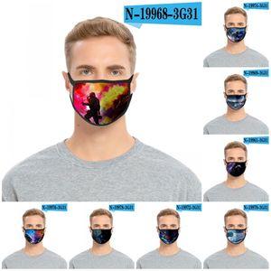Пылезащитный Mascarilla многоразовый Респиратор Мода Анти Haze Ткань маска Iced Шелк фантастика Печать Новый шаблон 2 2Glc D2