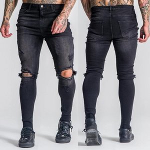 2020 New Fashion Men Skinny jeans Stretchy Pant Ripped Jeans Denim Pant Slim Fit Black Men