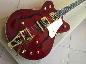Großhandel G6122-1962 Vicers hochwertiger E-Gitarre Atkins Country Gentleman neues Produkt, Hohl F-Typ-Druck, freies Verschiffen