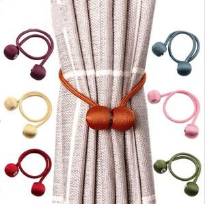 Vorhang Buckles Magnetic Perlen-Kugel-Vorhang Tiebacks Headset Magnetic Snap-Bandage Backs Holdbacks Buckle Clips Dekor LSK823
