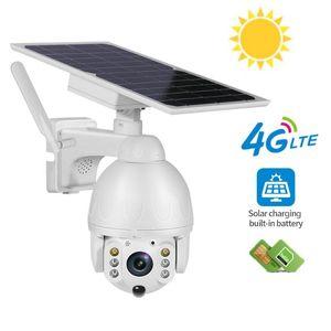 1080P HD 4G Low Power Solar camera Dual audio Voice Intrusion Alarm Solar Panel Cameras Outdoor Monitoring Waterproof Camera