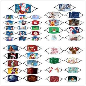 58 Designs Face Mask Noël avec filtre poche masque imprimé Noël visage 3D anti-poussière Noël bouche lavable réutilisable Masque Designer