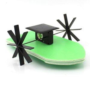 Main Energy Paddle Wheel Diy Jouets d'enseignement Assemblé Blocs d'outils physiques Gizmo construction solaire Kits navire Toy wGBeu