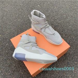 Air Fear Of God FOG 1 String Oatmeal Triple Yellow Sail Frosted Spruce Mens Boots Running Sneakers Shoes Luxury Designers Best Quality c03