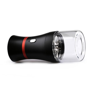 Auto Electric Smoking Herb Grinder with Glass Visible Window 1100mah large capacity