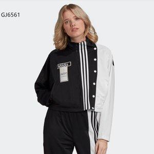 Femmes Mode Veste Automne Hiver Femmes Casual Contraste Vestes couleur de haute qualité avec Botton Mesdames Jackets Taille XS-XL