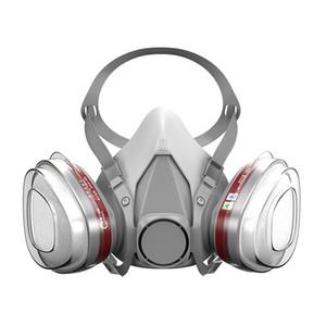 Antigas pode usar o conjunto Gas 6200 Spray de Tinta Gasolina Respirador Máscara repetidamente