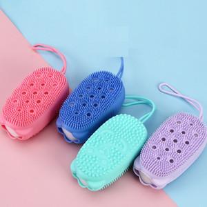깨끗 브러시 lxj106 거품 실리콘 소프트의 거품 목욕 스크럽 퍼티 스크럽 다시 문질러 가정 어린이 목욕 브러쉬 빠른