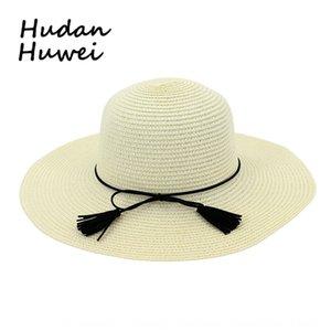 Strand Sonnenschirm Stroh Straw fake fake Urlaub am Meer Hut Mode vielseitig Sommer der Frauen Sonnenhut