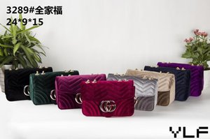 2020 مصمم النساء ريترو سلسلة كبيرة حقائب اليد حقائب الكتف المخملية الفاخرة حقيبة كبيرة حمل سيدة محفظة
