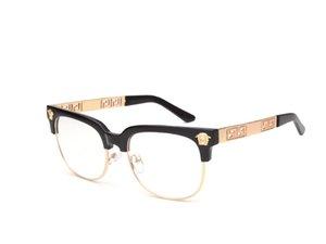 نمط رجل شبه النظارات بدون شفة إطارات معدنية للأشعة فوق البنفسجية نصف إطار واضح عدسة النظارات البصرية
