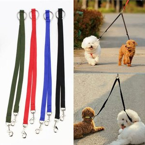 Nylon Ribbon Two Dog For Leash One Drag Braided Tangle For Walking Training Adjustable Size Pet Safety Traction Rope