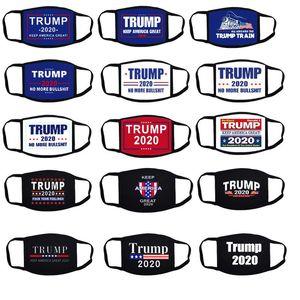 Riutilizzabile Maschera Viso Donald Trump Elezione panno maschera antipolvere Maschera Divertente Cotton USA Donne Uomini Unisex Moda Keep America Great Again DWD572