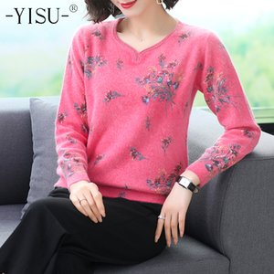 Fashion YISU Winter Knitted Autumn Female Pullover
