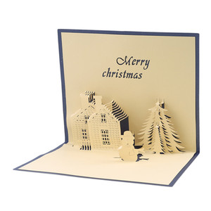 3D Up Message Cards Laser Cut Postcard With Envelope Birthday Christmas Valentine' Day Greeting Cards Party Wedding Gifts