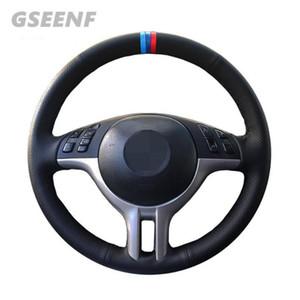 Рулевое управление автомобиля колеса Обложка для E46 E39 325i E53 X3 X5 Черная Рука сшитые Удобная искусственная кожа