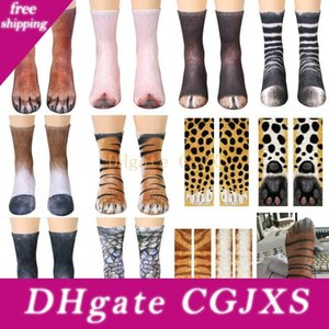3d Animal Foot Hoof Socks Cotton Cosplay Printed Cat Dog Tiger Paw Feet Socks For Adult Children Xmas Home Warm Stocking Gifts Wx9 -822