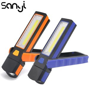 SANYI Magnetic Portable Lantern 3800LM Adjustable COB LED Torch Camping Tent Lamp Power by 4* Battery