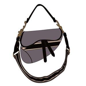 bolso fannypack negro bolsa bordada 2020 3A superior mano de la manera señoras del bolso clásico de la cartera plegable bolsa de mensajero con la caja al por mayor