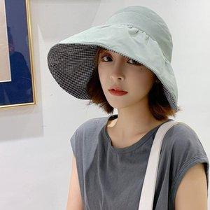 Şapka Kadın Kore-Style Moda Güneş Şapka Japon Tarzı Kumaş Güneş Şapkası Kapak Big Spring Big Brim En Summer boşaltın