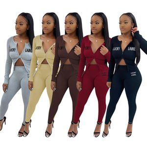 womens hoodie legging two piece set outfits long sleeve tracksuit jacket pants sportswear panelled outerwear tights sports set hot klw5007