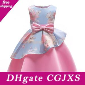 Vieeoease ragazze Flower Dress Abbigliamento Bambini 2018 Summer Fashion maniche della maglia dell'arco della principessa Party Dress Ee -361