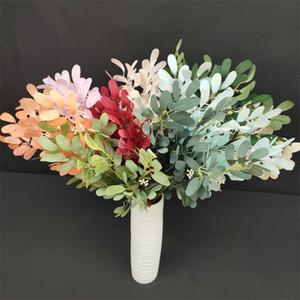 """همية الفول السوداني ورقة (5 ينبع / مجموعة) 21.26 """"طول محاكاة الخضار النبات الخضراء للنباتات الزفاف ديكور المنزل الاصطناعي"""