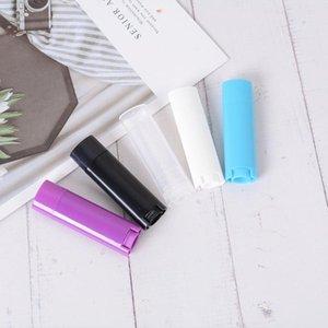 5 Stück Kunststoff leeren Oval Lipgloss Schlauch nachfüllbar Lip-Flasche Probenbehälter für Lippenstift Kosmetik