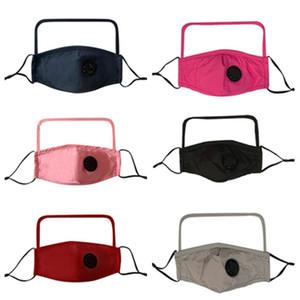 2 в 1 Valve Face Mask With Transparent Eye Shield пыле моющийся анфас щит Дизайнерские Маски с клапанами T2I51296