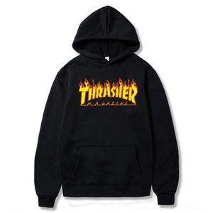 lettera marchio SqSky xX3Gi pattino Harajuku Fiamma dead-flying hip-hop degli uomini West Coast marea hoodie con cappuccio maglione maglione maglione