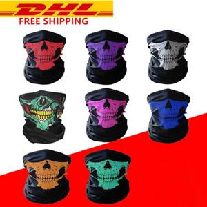 Máscaras Máscaras Halloween Festival crânio de esqueleto da motocicleta Outdoor 2020 Multi função Neck Warmer Santo Meia cara Magia lenço fy6096