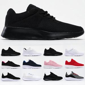 Tanjun Zapatos de hombres mujeres entrenadores Runner hombre baratas triples negro blanco rojo corriendo entrenador deportivo zapatillas de correr al aire libre para caminar