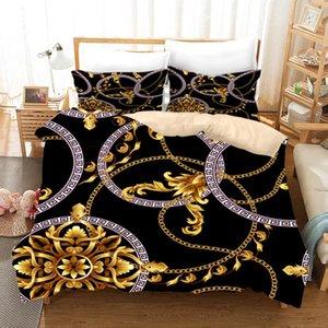 3D Печатный Пододеяльник Set Soft Single Double Bed Полный размер постельных Стильный шаблон Простые Кровать Pillowcase Роскошные Постельные принадлежности 3шт
