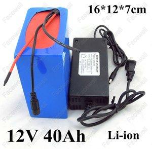 GTK 12V BMS + 3A 충전기와 전기 자전거에 대한 40AH 리튬 이온 배터리 팩 bateria