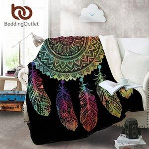 Yataklar Koltuk Renkli Yumuşak Atma Seyahat Manta li8K # için BeddingOutlet Dreamcatcher Coral Polar Battaniye Bohemian Mandala Fanila Battaniye