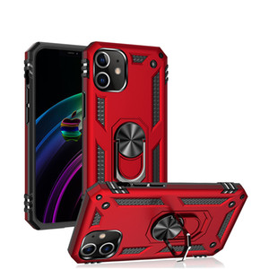 Shockproof Armor Kickstand Phone Case For iphone 12 11 Pro XR XS Max 6S 7 8 Plus Magnetic Ring Car Holder Anti-Fall Cover