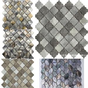 Nordic style stainless Ktv club steel printed Lantern Mosaic tile sticker Hotel KTV club restaurant background wall porch