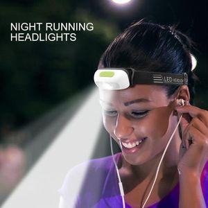 Elastic Band Headlamp Night Fishing Headlight Adjustable Angle USB Charging Led Head Lamp Waterproof Portable Outdoor Head Light