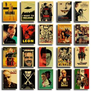 Vintage del cartel clásico de la película Pulp Fiction / Kill Bill / club de la lucha del cartel de metal retro Poster decoración del arte de la vendimia pintura colgada