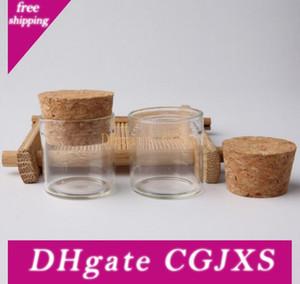 5g Kleine Glasflaschen mit Korken Stoppers 5ml-Qualitäts-Glas / Glas-Glas Mini Reagenzglas Lx6050